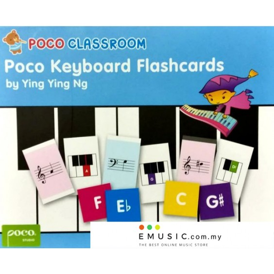 Poco Classroom Keyboard Flashcards by Ying Ying Ng Playcards