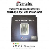 Blacksmith VS-XLRFTXLRM6 6m XLR Female to XLR Male Microphone Cable Vocalist Series