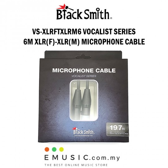 Blacksmith VS-XLRFTXLRM6 6m XLR Female to XLR Male Microphone Cable Vocalist Series
