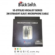 Blacksmith VS-STFXLR3 3m Straight to XLR Female Microphone Cable Vocalist Series