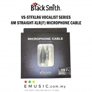 Blacksmith VS-STFXLR6 6m Straight to XLR Female Microphone Cable Vocalist Series