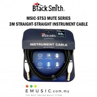 Blacksmith MSIC-STS3 3m Straight to Straight Mute Series Instrument Cable