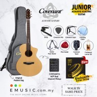 Covenant Guitar Junior Acoustic-Electric Guitar - Best Performance Guitar with Gigbag and accessories