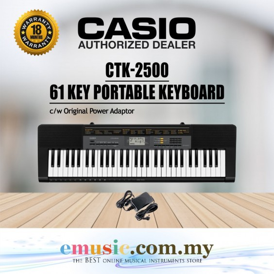 Casio CTK-2500 61-key Portable Keyboard (CTK2500 / CTK 2500)