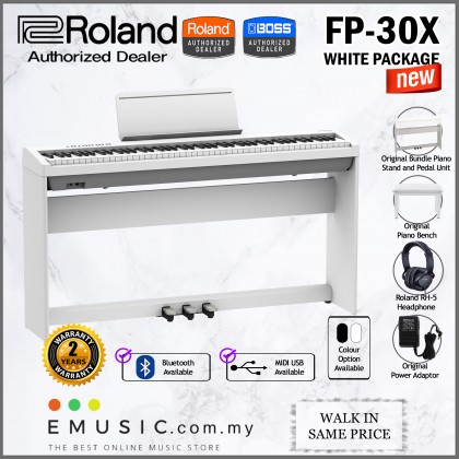 *LATEST* Roland FP-30X 88-key Digital Piano Home Package (FP30X / FP 30X)