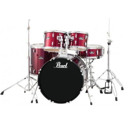 Pearl Roadshow 5-piece Drum Set with MES Cymbal (Red Wine) (RS525SB/C / RS525SC/C / RS525SC)