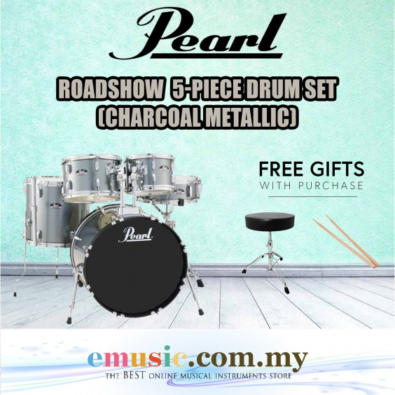 Pearl Roadshow 5-piece Drum Set (Charcoal Metallic) (RS525SB/C / RS525SCC)