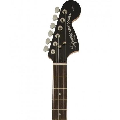 Squier Standard Fat Stratocaster Electric Guitar, Laurel FingerBoard, Black & Chrome