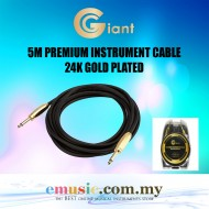Giant 5M (16.5FT) PVC Guitar Audio Cable 24K Gold Plated