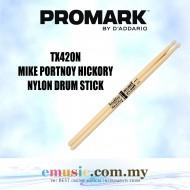 Promark TX420N Hickory 420 Mike Portnoy Drumsticks, Nylon Tip