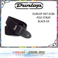Jim Dunlop D07-01 Black Colour Poly Guitar Strap