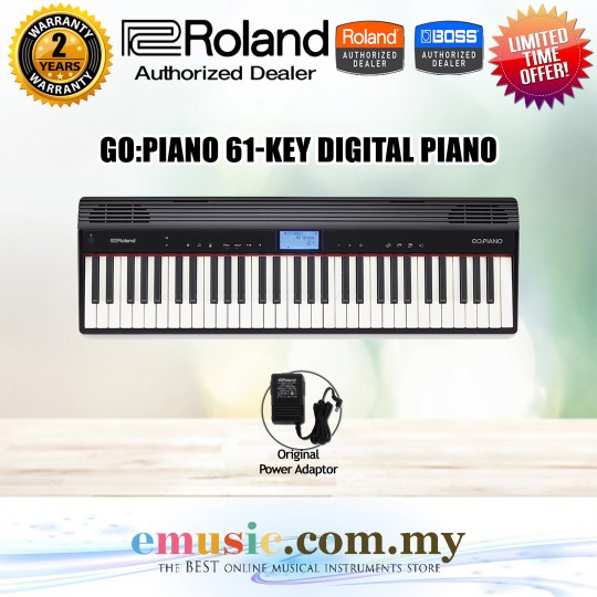 Roland GO:PIANO 61-Keys Piano In Keyboard Size (GO PIANO)
