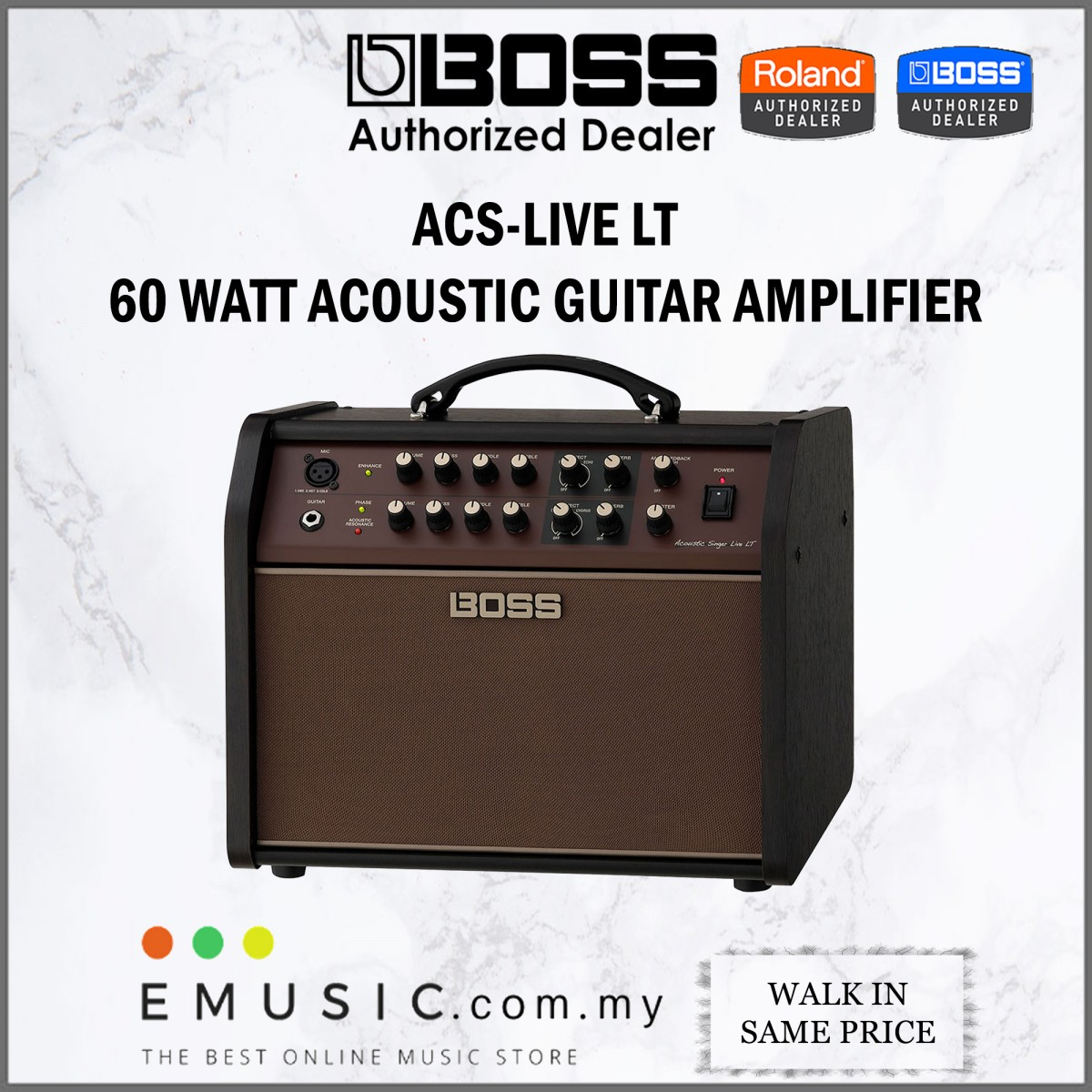 Boss ACS-LIVE LT 60 watt Acoustic Singer Live LT Acoustic Guitar Amplifier (ACS LIVE LT)