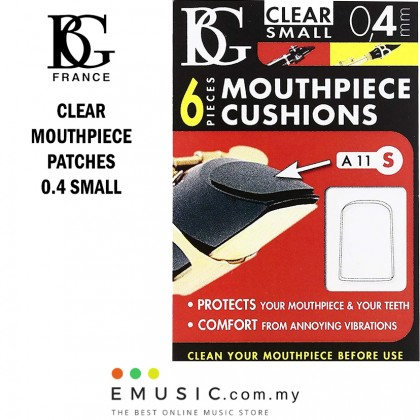 BG France Clear Mouthpiece Patches 0.4mm Small A11S